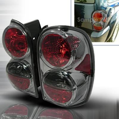Headlights & Tail Lights - Tail Lights - Spec-D - Jeep Liberty Spec-D Altezza Taillights - Smoke - LT-LIB02G-KS