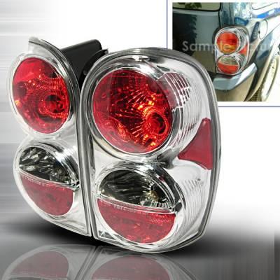 Headlights & Tail Lights - Tail Lights - Spec-D - Jeep Liberty Spec-D Altezza Taillights - Chrome - LT-LIB02-KS