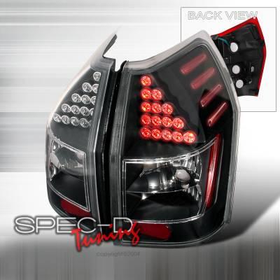 Headlights & Tail Lights - Tail Lights - Spec-D - Dodge Magnum Spec-D LED Taillights - Black - LT-MAG05JMLED-KS