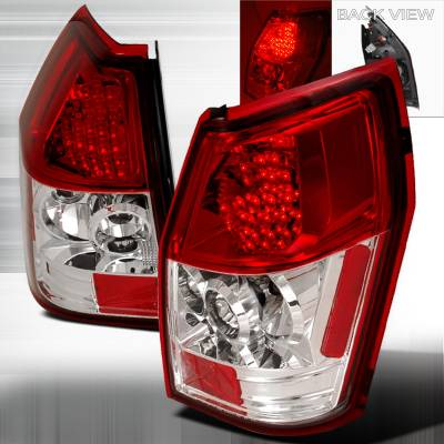 Headlights & Tail Lights - Tail Lights - Spec-D - Dodge Magnum Spec-D LED Taillights - Red - LT-MAG05RLED-TM
