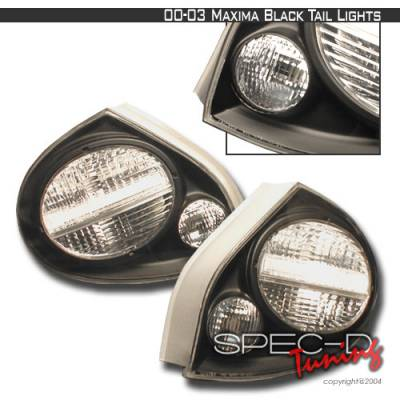 Headlights & Tail Lights - Tail Lights - Spec-D - Nissan Maxima Spec-D Altezza Taillights - Black - LT-MAX00JM-KS