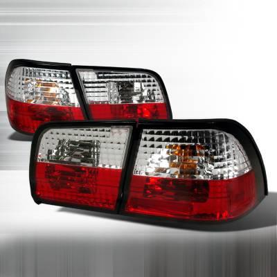 Headlights & Tail Lights - Tail Lights - Spec-D - Nissan Maxima Spec-D Altezza Taillights - Red & Clear - LT-MAX95RPW-TM