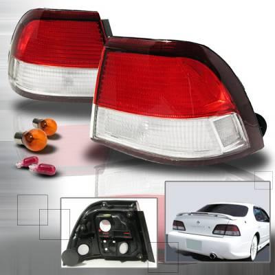 Headlights & Tail Lights - Tail Lights - Spec-D - Nissan Maxima Spec-D Altezza Taillights - Red & Clear - LT-MAX97RPW-KS