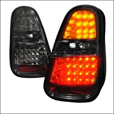 Headlights & Tail Lights - Tail Lights - Spec-D - Mini Cooper Spec-D LED Taillights - Smoke Lens - LT-MINI06GLED-TM