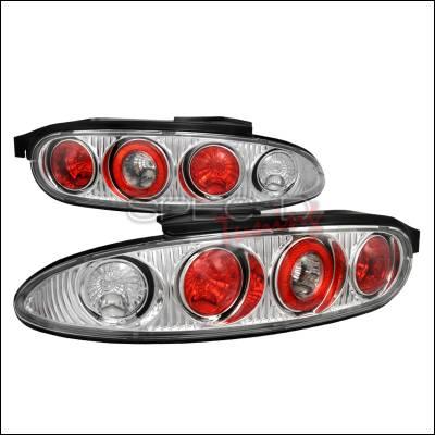 Headlights & Tail Lights - Tail Lights - Spec-D - Mazda MX3 Spec-D Altezza Taillights - Chrome - LT-MX392-APC