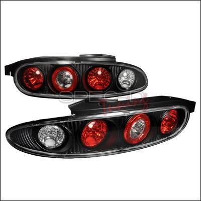 Headlights & Tail Lights - Tail Lights - Spec-D - Mazda MX3 Spec-D Altezza Taillights - Black - LT-MX392JM-APC