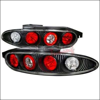 Headlights & Tail Lights - Tail Lights - Spec-D - Mazda MX3 Spec-D Altezza Taillights - Black - LT-MX392JM-KS