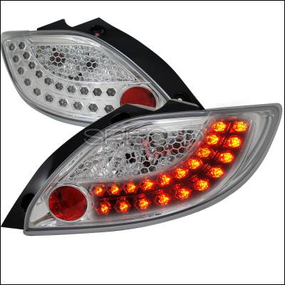 Headlights & Tail Lights - Tail Lights - Spec-D - Mazda 2 Spec-D Chrome LED Taillights - LT-MZD211CLED-TM