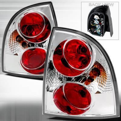 Headlights & Tail Lights - Tail Lights - Spec-D - Volkswagen Passat Spec-D Altezza Taillights - Chrome - LT-PAS014-TM