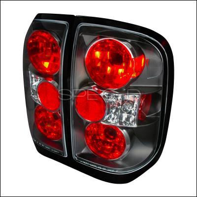 Headlights & Tail Lights - Tail Lights - Spec-D - Nissan Pathfinder Spec-D Altezza Taillights - Black - LT-PATH96JM-TM