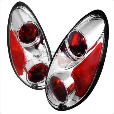 Headlights & Tail Lights - Tail Lights - Spec-D - Chrysler PT Cruiser Spec-D Euro Tailights - Chrome Housing - LT-PTC01-APC