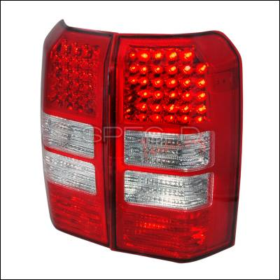 Headlights & Tail Lights - Tail Lights - Spec-D - Jeep Patriot Spec-D LED Taillights - Red - LT-PTRT07RLED-KS