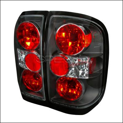 Headlights & Tail Lights - Tail Lights - Spec-D - Infiniti QX-4 Spec-D Altezza Taillights - Black - LT-QX497JM-TM