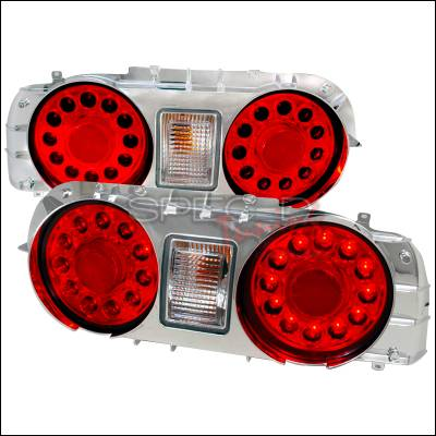 Headlights & Tail Lights - Tail Lights - Spec-D - Nissan Skyline Spec-D LED Taillights - Chrome - LT-R3289CLED-TM
