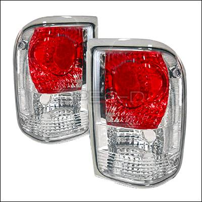 Headlights & Tail Lights - Tail Lights - Spec-D - Ford Ranger Spec-D Altezza Taillights - Chrome - LT-RAN93-KS