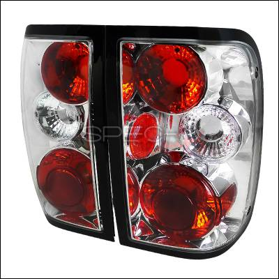Headlights & Tail Lights - Tail Lights - Spec-D - Ford Ranger Spec-D Altezza Taillights - Chrome - LT-RAN93-TM