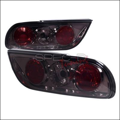 Headlights & Tail Lights - Tail Lights - Spec-D - Nissan 240SX Spec-D Taillights - Smoke Side Piece - LT-S1389G-TM