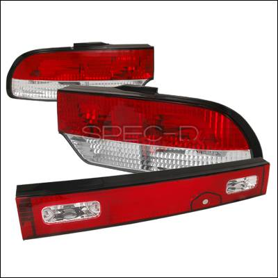 Headlights & Tail Lights - Tail Lights - Spec-D - Nissan 240SX Spec-D Altezza Taillights - Chrome - LT-S1389RPW3-TM