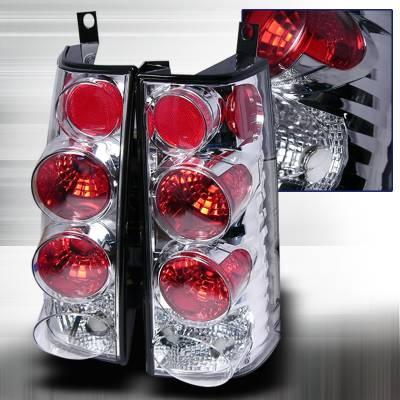 Headlights & Tail Lights - Tail Lights - Spec-D - GMC Savana Spec-D Altezza Taillights - Chrome - LT-SAV96-KS