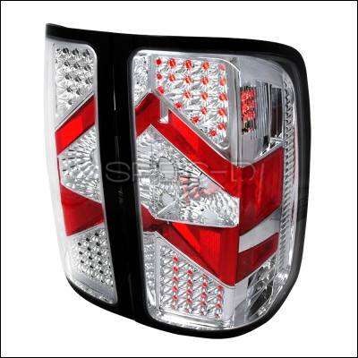 Headlights & Tail Lights - Tail Lights - Spec-D - GMC Sierra Spec-D LED Taillights - Chrome - LT-SIE07CLED-DP