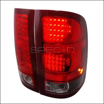 Headlights & Tail Lights - Tail Lights - Spec-D - GMC Sierra Spec-D LED Taillights - Black - LT-SIE07JMLED-KS