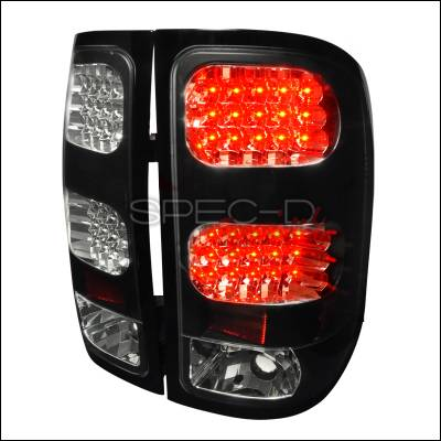 Headlights & Tail Lights - Tail Lights - Spec-D - GMC Sierra Spec-D LED Taillights - Black - LT-SIE07JMLED-TM