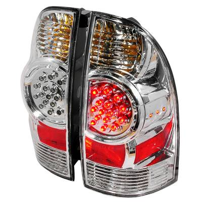 Headlights & Tail Lights - Tail Lights - Spec-D - Toyota Tacoma Spec-D LED Taillights - Chrome - LT-TAC06CLED-KS