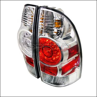 Headlights & Tail Lights - Tail Lights - Spec-D - Toyota Tacoma Spec-D LED Taillights - Chrome Housing - LT-TAC09CLED-DP