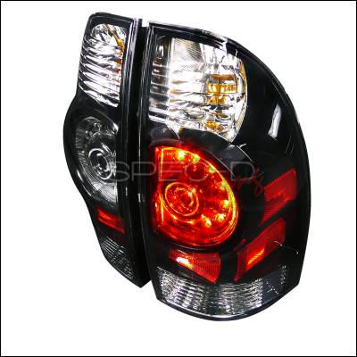 Headlights & Tail Lights - Tail Lights - Spec-D - Toyota Tacoma Spec-D LED Taillights - Black Housing - LT-TAC09JMLED-DP