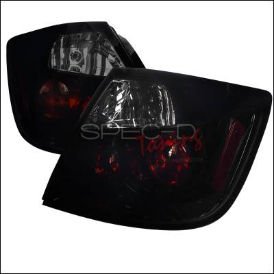 Headlights & Tail Lights - Tail Lights - Spec-D - Scion tC Spec-D Euro Taillights - Glossy - Black Housing with Smoke Lens - LT-TC04BB-TM