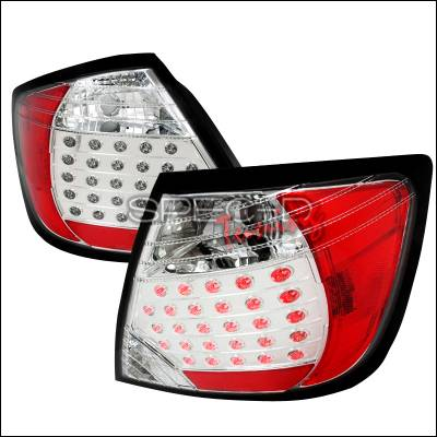 Headlights & Tail Lights - Tail Lights - Spec-D - Scion tC Spec-D LED Taillights - Chrome - LT-TC04CLED-DP