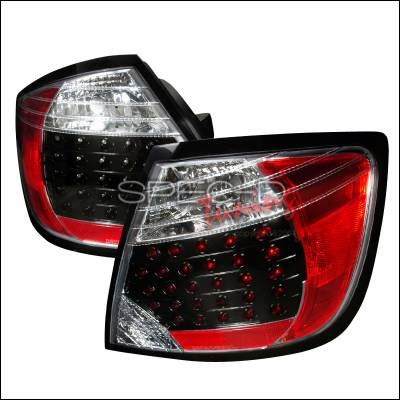Headlights & Tail Lights - Tail Lights - Spec-D - Scion tC Spec-D LED Taillights - Black - LT-TC04JMLED-DP
