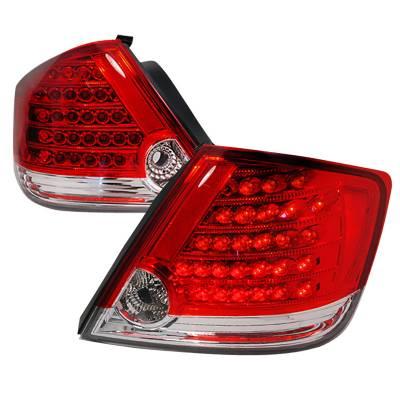 Headlights & Tail Lights - Tail Lights - Spec-D - Scion tC Spec-D LED Taillights - Red - LT-TC04RLED-KS