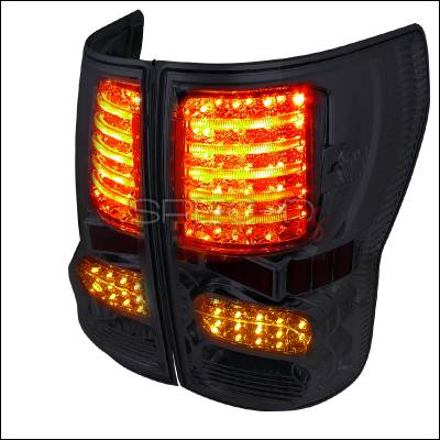 Headlights & Tail Lights - Tail Lights - Spec-D - Toyota Tundra Spec-D LED Taillights - Smoked Lens - LT-TUN07GLED-JP