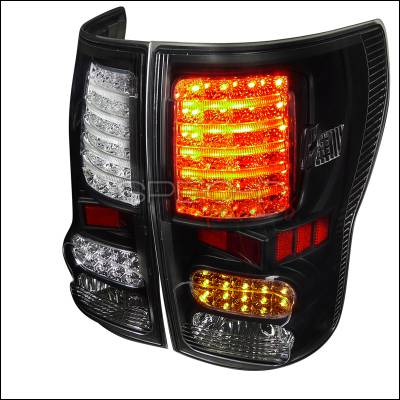 Headlights & Tail Lights - Tail Lights - Spec-D - Toyota Tundra Spec-D LED Taillights - Black Housing - LT-TUN07JMLED-JP