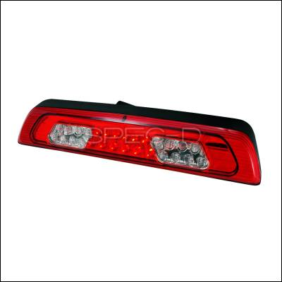 Headlights & Tail Lights - Tail Lights - Spec-D - Toyota Tundra Spec-D LED Third Brake Lights - Red - LT-TUN07RBRLED-KS