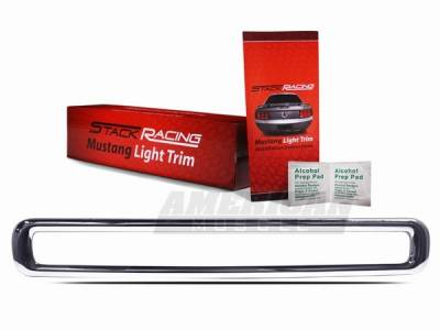 Headlights & Tail Lights - Third Brake Lights - Stack Racing - Ford Mustang Stack Racing Chrome Third Brake Light Trim - 52003