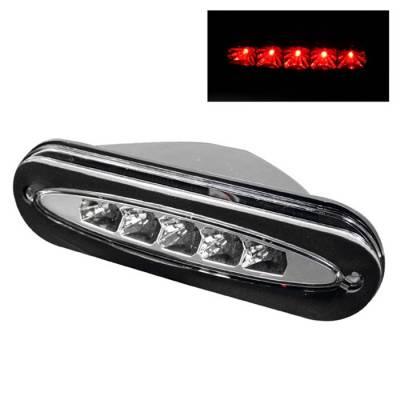 Headlights & Tail Lights - Third Brake Lights - Spyder - Dodge Neon Spyder LED 3RD Brake Light - Chrome - BL-CL-DN95-C