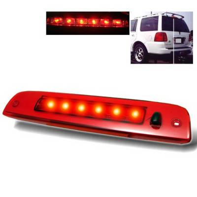 Headlights & Tail Lights - Third Brake Lights - Spyder Auto - Lincoln Navigator Spyder LED Third Brake Light - Red - BL-CL-LN03-LED-RD