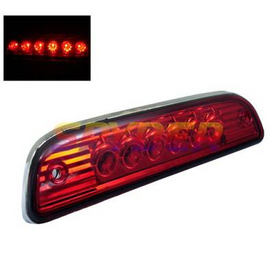 Headlights & Tail Lights - Third Brake Lights - Spyder Auto - Toyota Tacoma Spyder LED Third Brake Light - Red - BL-CL-TTA95-LED-RD