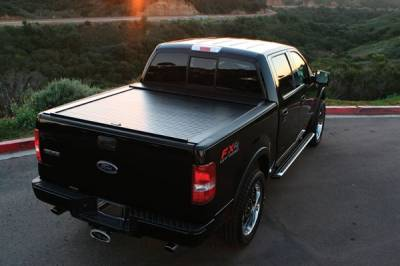 Suv Truck Accessories - Tonneau Covers - Truck Covers USA - GMC Sierra American Roll Tonneau Cover - CR-200