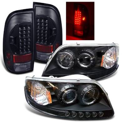 Hyundai - Accent 4Dr - Headlights & Tail Lights