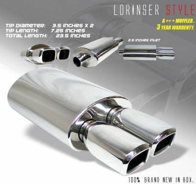 Car Parts - Exhaust - Universal Mufflers