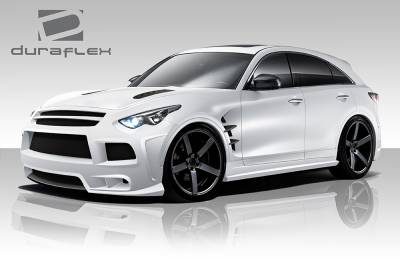 QX - Body Kits - Extreme Dimensions - Infiniti QX Duraflex CT-R Body Kit - 4 Piece - 109010