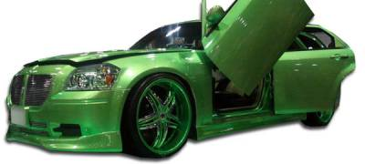 300 - Side Skirts - Extreme Dimensions 16 - Chrysler 300 Duraflex VIP Side Skirts Rocker Panels - 2 Piece - 100631