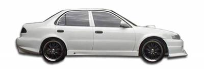 Corolla - Side Skirts - Extreme Dimensions - Toyota Corolla Duraflex Bomber Side Skirts Rocker Panels - 2 Piece - 102033