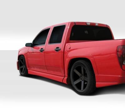Canyon - Side Skirts - Extreme Dimensions - GMC Canyon Duraflex BT-1 Side Skirt Rocker Panels - 4 Piece - 112336