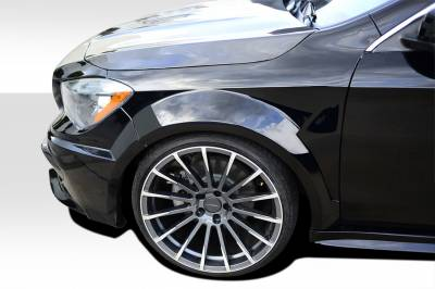 CLA - Fenders - Extreme Dimensions 16 - Mercedes-Benz CLA Duraflex Black Series Look Wide Body Front Fenders - 2 Piece - 112014