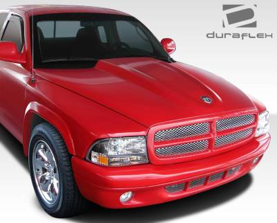 Dakota - Hoods - Extreme Dimensions 16 - Dodge Dakota Duraflex Cowl Induction Hood - 1 Piece - 107904