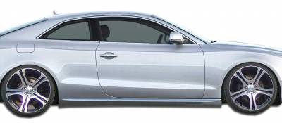 A5 - Side Skirts - Extreme Dimensions 16 - Audi A5 Duraflex S5 Look Side Skirts Rocker Panels - 2 Piece - 107522